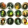 "2"" Assorted Bob Marley Designs 3 Piece Grinder 1"