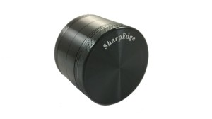 Sharp Edge 4 Piece Hard Top Herb Grinder - Black 1