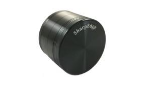 Sharp Edge 4 Piece Hard Top Herb Grinder - Black 1