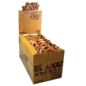 RAW Natural Unrefined King Size Cones 1