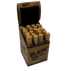 RAW Natural Bamboo Rolling Mat 24 Pack 1