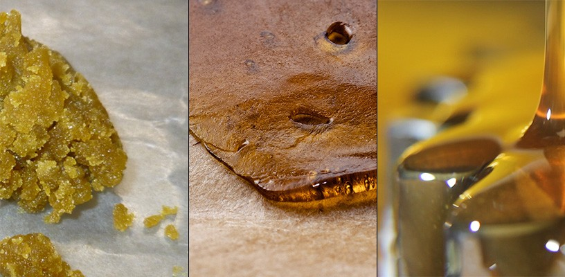 Different types of concentrates